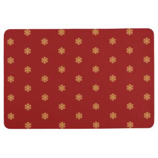 Christmas gold snowflake pattern, customizable BG Floor Mat