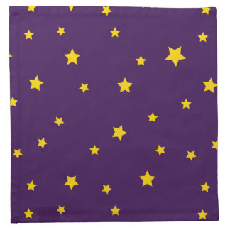 Christmas Gold Stars on Purple Napkins