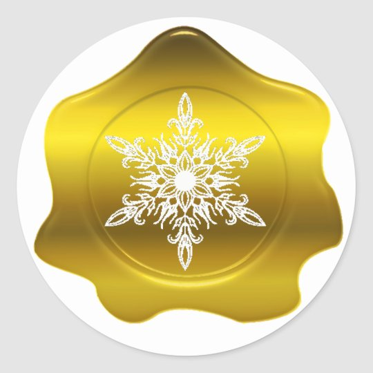 Christmas Gold Wax Seal Stickers