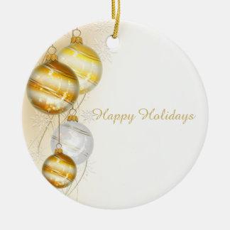Christmas Gold White Ball Ornaments