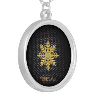 Christmas Golden classy fashion personalised Silver Plated Necklace