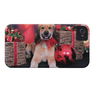 Christmas - Golden Cocker - LIL iPhone 4 Case-Mate Cases