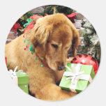 Christmas - Golden Retriever - Addison Sticker