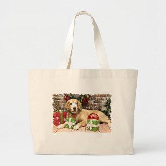 Christmas - Golden Retriever - Izzy Canvas Bag