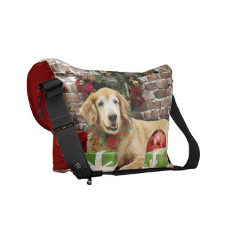 Christmas - Golden Retriever - Izzy Courier Bags