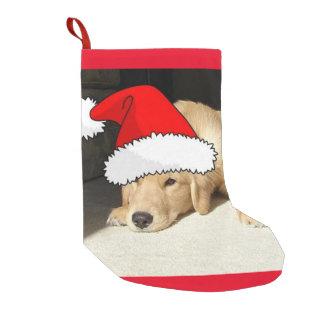 Christmas Golden Retriever Puppy Small Christmas Stocking