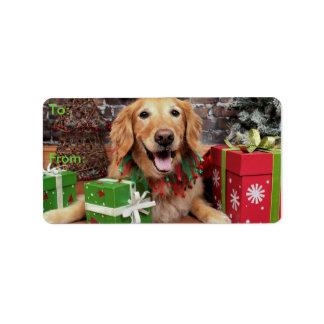 Christmas - Golden Retriever - Sidney Address Label