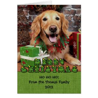 Christmas - Golden Retriever - Sidney Greeting Card