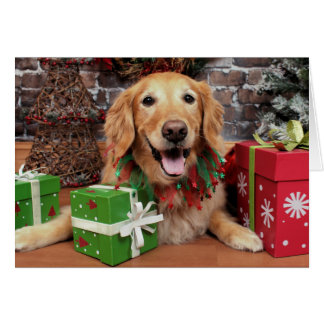 Christmas - Golden Retriever - Sidney Note Card