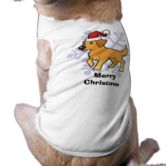 Christmas Golden Retriever Sleeveless Dog Shirt