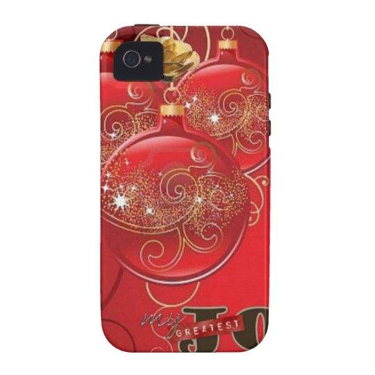 Christmas Golden Rose Balls Case-Mate iPhone 4 Cases