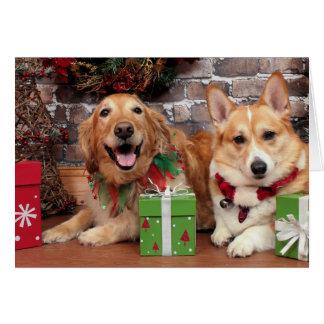 Christmas - Golden Sidney - Corgi Cal Note Card