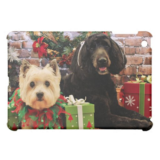 Christmas - GoldenDoodle Abby - Cairn Terrier Roxy Case For The iPad Mini