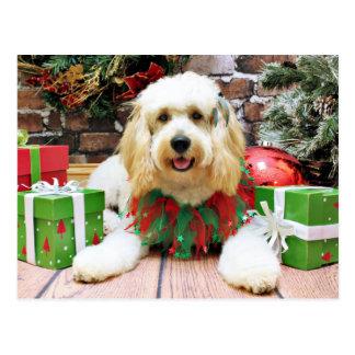 Christmas - GoldenDoodle - Mazey Postcard