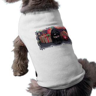 Christmas - GoldenDoodle - PJ Sleeveless Dog Shirt