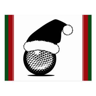 Christmas Golf Ball Postcard