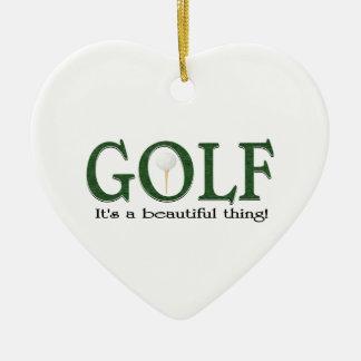 Christmas golf christmas ornament