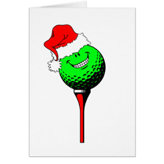 Christmas golf greeting card