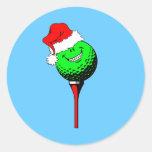 Christmas golf round sticker