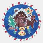 Christmas Goodies Round Stickers