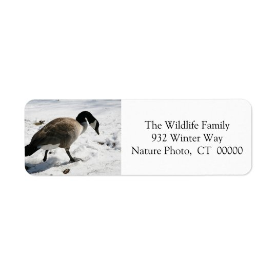 Christmas Goose Holiday Return Address Stickers