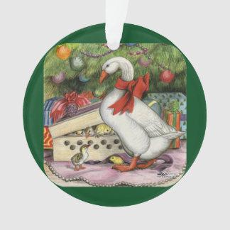 Christmas Goose Ornament