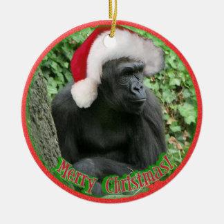 Christmas Gorilla Christmas Ornament