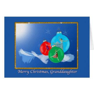Christmas, Granddaughter, Ballerinas Greeting Card