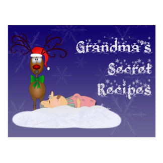 Christmas Grandma Recipe Card