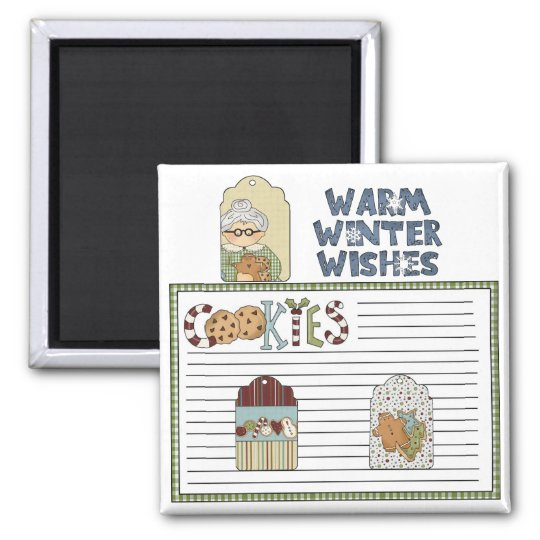 Christmas GrandMa's Cookies Fridge Magnet