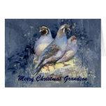 Christmas Grandson California Quail Bird Cards