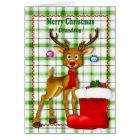 CHRISTMAS - GRANDSON - REINDEER CARD