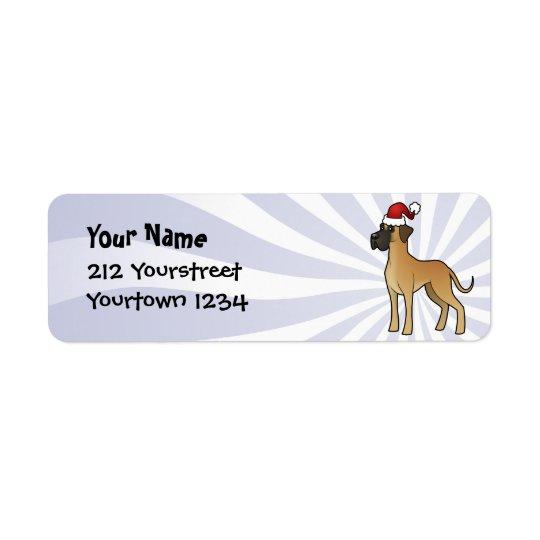Christmas Great Dane Return Address Label