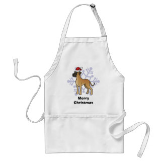 Christmas Great Dane Standard Apron