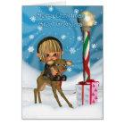 Christmas Great Grandma Elf Reindeer, Rudolf, Nort Card