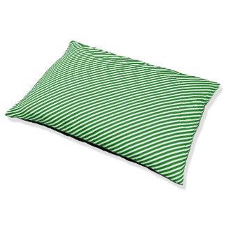 Christmas Green and White Diagonal Sailor Stripes