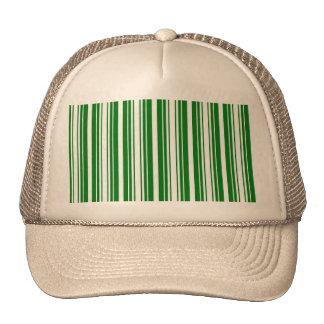 Christmas Green and White Stripes Trucker Hats