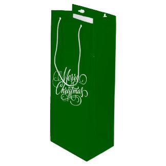 Christmas Green Bottle Gift Bag