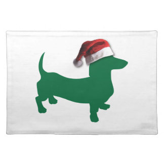 Christmas Green Dachshund Placemat