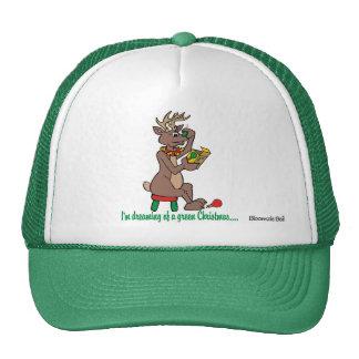 Christmas: Green Nosed Reindeer Cap