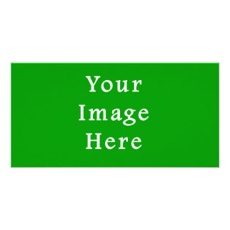 Christmas Green Retro Color Trend Blank Template Personalized Photo Card