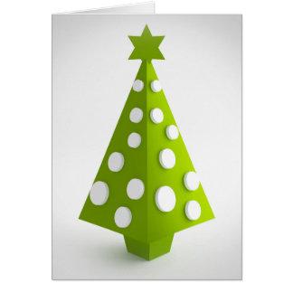 Christmas green tree card