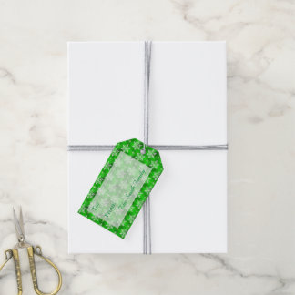Christmas Green with White Snowflakes Gift Tags