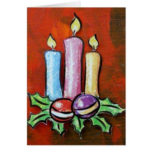 Christmas Greeting Card - Christmas Candles