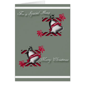 Christmas greeting card for Aunt