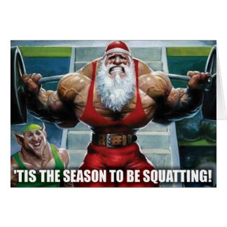Christmas Greeting Card - Gym Motivation