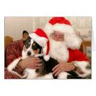 Christmas Greeting Card-Santa and his Welsh Corgi Card