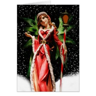 Christmas Greeting Card/Snow Fairy Card