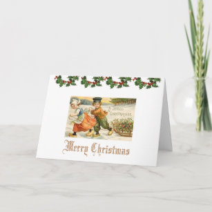 Vintage dutch christmas cards invitations zazzle christmas greeting card vintage dutch child m4hsunfo