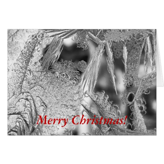 Christmas Greeting Card with Frost Design